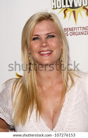 Alison Sweeney  at the Hot In Hollywood Charity Event to benefit the AIDS Healthcare Foundation and Real Medicine. Avalon, Hollywood, CA. 08-16-08