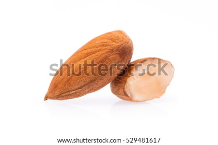 almond isolated on white background.