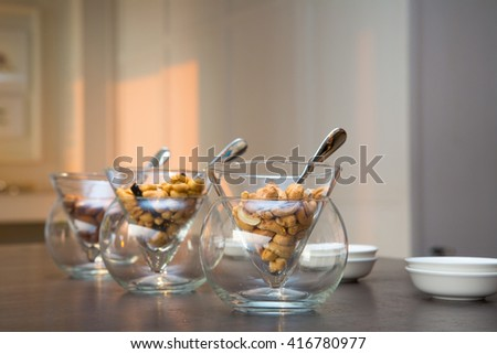 almonds isolated on the table at living room