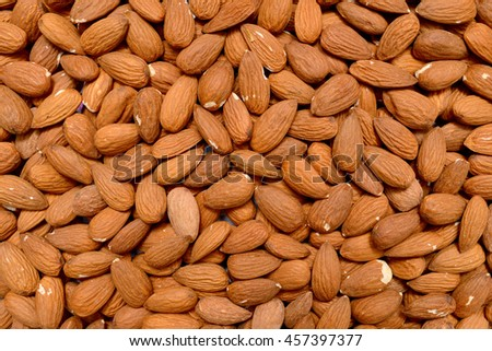 almonds plant dry seeds texture pattern background