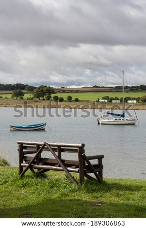 ALNMOUTH, NORTHUMBERLAND/UK - AUGUST 17 : Scenic view of the River Aln  estuary at Alnmouth in Northumberland on August 17, 2010.