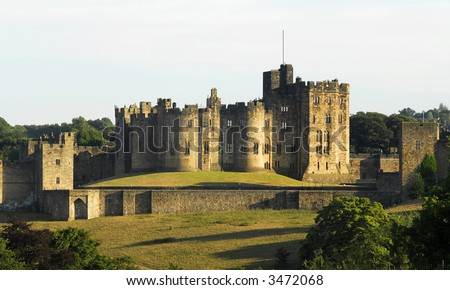 Alnwick Castle, England's second largest inhabited castle. Home of the Percy's, Earls, Dukes of Northumberland since 1309.