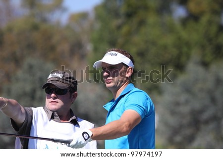 ALOHA GOLF COURSE, MARBELLA, SPAIN - MARCH 14 :  Joost Luiten (NED) at Andalucia Open, Golf European Tour, March 14, 2012, at  Alhoa Golf Club, Marbella, Spain
