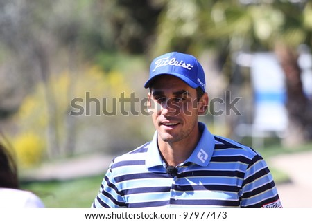 ALOHA GOLF COURSE, MARBELLA, SPAIN - MARCH 14 :  Rafael Cabrera Bello (SPA) at Andalucia Open, Golf European Tour, March 14, 2012, at  Alhoa Golf Club, Marbella, Spain.