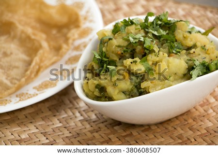 Aloo onion subzi is a side dish from karnataka which can be served with either roti or with rice and dal.
