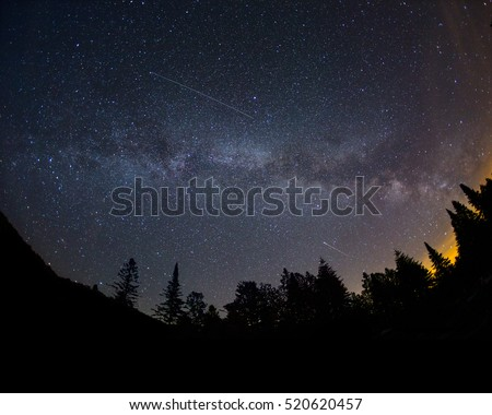 Alpha Capricornids meteor shower over the Milky Way