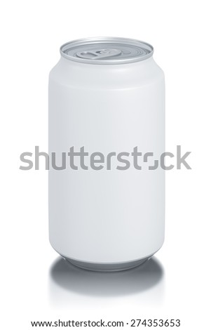 aluminum cans isolated on white. High resolution illustration.