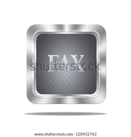 Aluminum frame illustration with fax signal on white background.