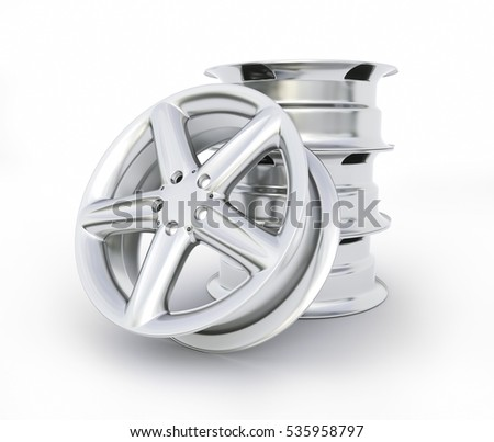 Aluminum wheel image high quality - 3D rendering