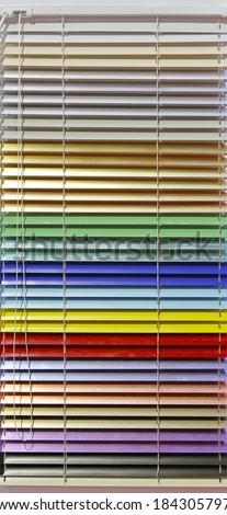 Aluminum Window Blinds In Rainbow Colors