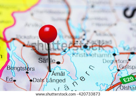 Amal pinned on a map of Sweden