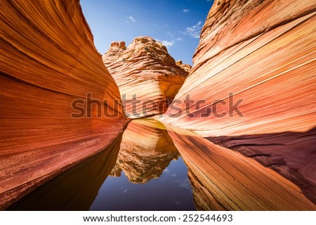 Amazing rock formation in Arizona, The Wave. Parya Canyon Vermillion Cliffs, Coyote Buttes Wilderness