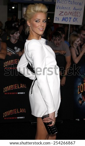 "Amber Heard at the Los Angeles Premiere of ""Zombieland"" held at the Grauman's Chinese Theater in Hollywood, California, United States on September 23, 2009."