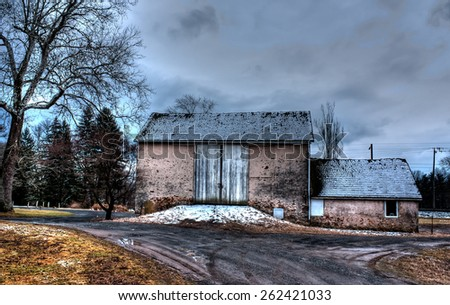 American barn in Chalfont, Pennsylvania