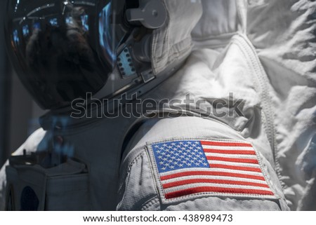 American Flag on Astronaut space suit shoulder