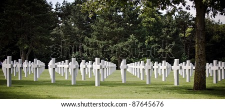 American military cemetery (World War II memorial) in Colleville, France