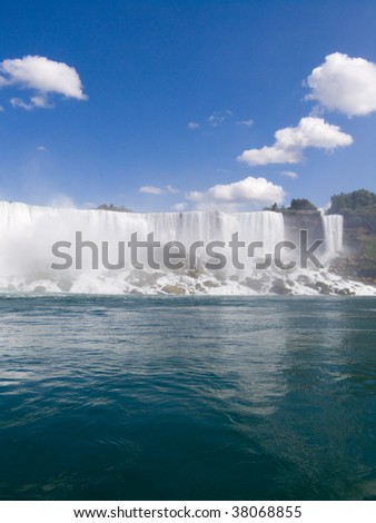 American Niagara Falls at USA border