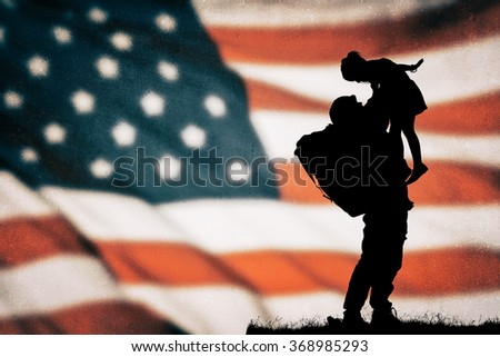 American soldier silhouette