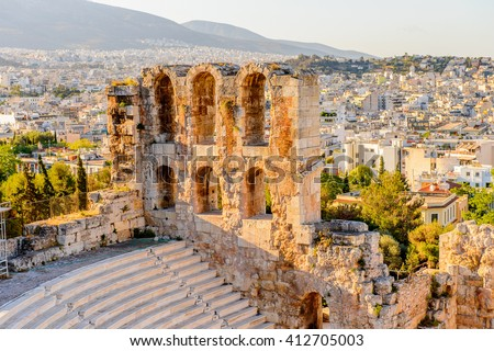 Amphitheater of the Acropolis of Athens. UNESCO World Hetiage site.