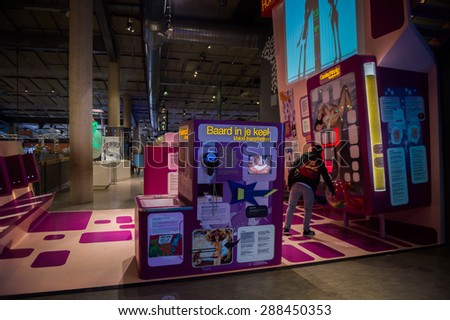 AMSTERDAM, NETHERLANDS - JUN 2, 2015: Science Center Nemo, a science center in Amsterdam. The museum has origins in 1923