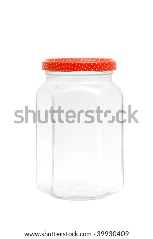 An empty jar isolated on white