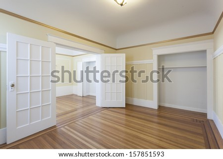 An Empty Studio Apartment Stock Photo