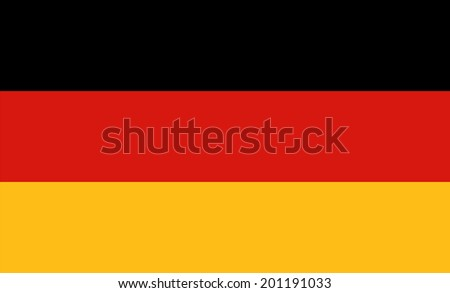 An Illustrated Drawing of the flag of Germany