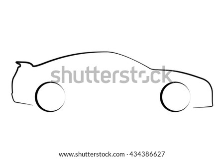 Stock Vector Racing Car Icon