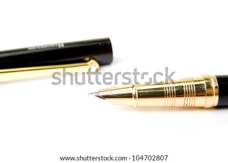 An image of a fountain pen on white background