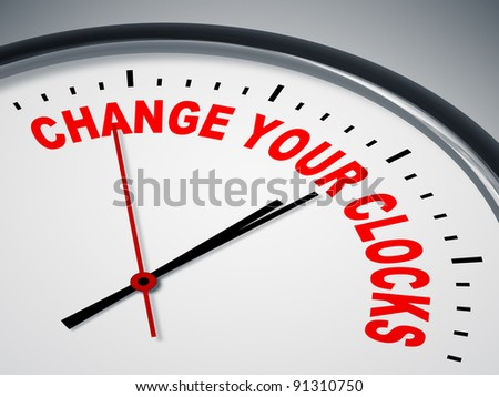 An image of a nice clock with change your clocks