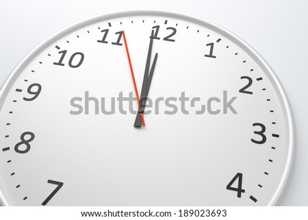 An image of a nice clock with space for your message