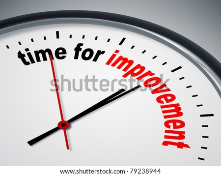 An image of a nice clock with time for improvement