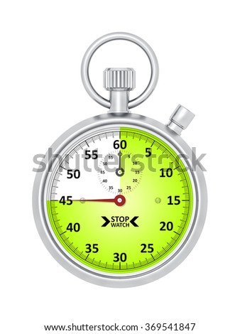 An image of a typical stopwatch 45 seconds