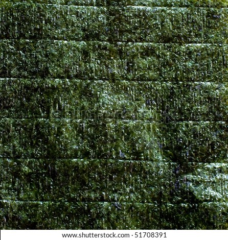 An image of green leaf of dried nori