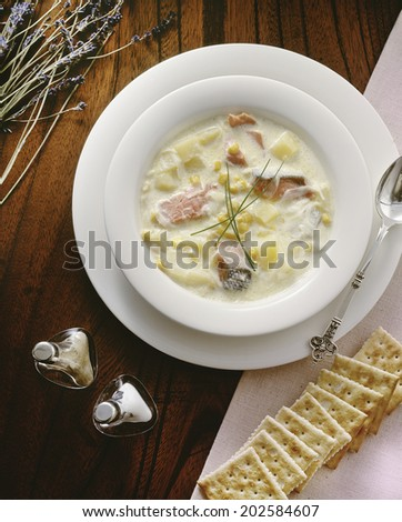 An Image of Salmon Chowder