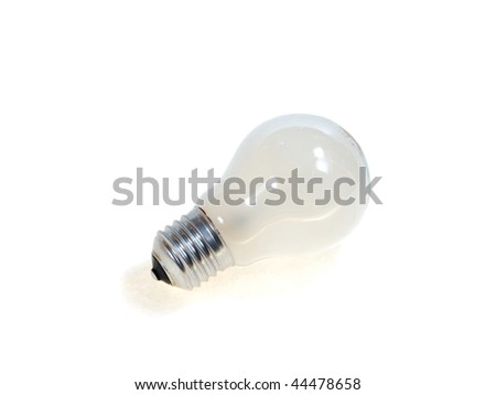 An incandescent lamp over white