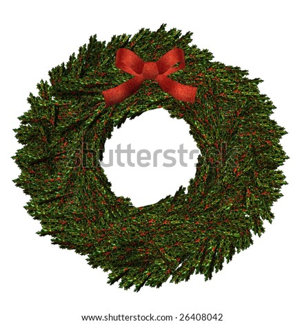 An isolated on white wreath
