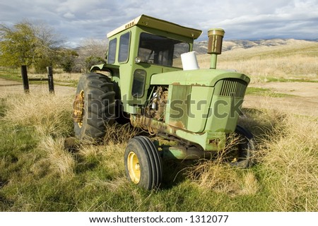An old tractor no longer used on the farm