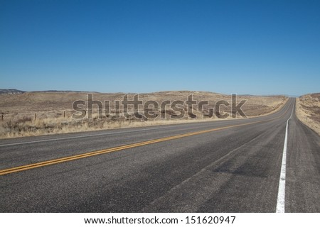 An open road in the Southwest United States