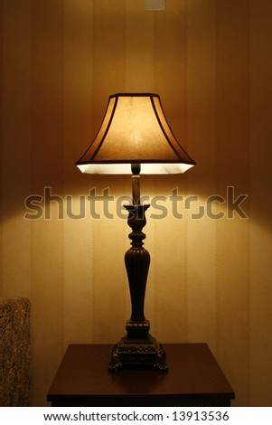 an open standing lamp in living room