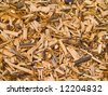 An organic background of wood chips - stock photo