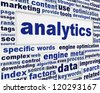 Analytics technical poster design. Data optimization creative message background - stock photo