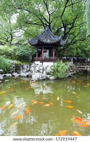 Ancient Chinese Yu Yuan Garden in Shanghai, China