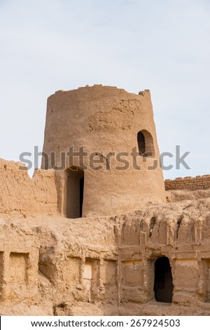 Ancient clay architecture in Iran