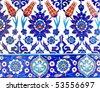 Ancient Handmade Turkish Tiles - stock photo