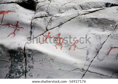 ancient rock carvings (petroglyphs) in Alta, Norway