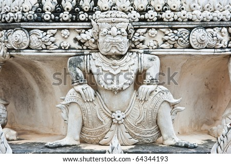 ancient sculpture in temple
