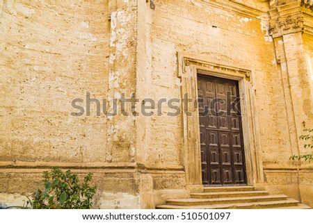 Ancient village church in southern Italy