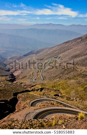 Andean road, Jujuy, Argentina