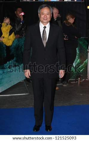 Ang Lee arriving for the Life Of Pi premiere, at Empire Leicester Square, London. 03/12/2012 Picture by: Alexandra Glen